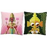 MySocialTab - Diwali Gift Set Of 2 Printed Laxhmi And Ganesh Ji Cushion,DIWALIGIFTS811MST - Diwali Special, Gifts...