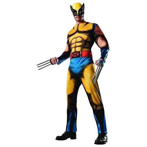 GSG Adult Wolverine Costume X-Men Hero Halloween Fancy Dress (Xmen Fancy Dress)