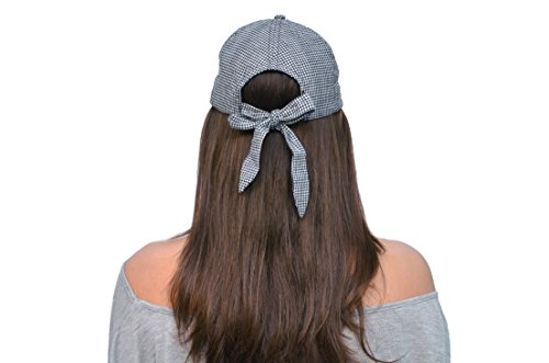 Skyed Apparel Bow Tie Baseball Cap Hat (Black and White Checkered) (Kc Company Smash compare prices)