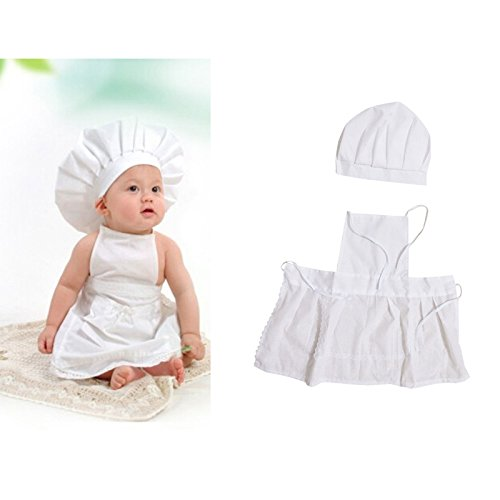 ZhiDa Cook Style Baby Infant Newborn Fancy Dress Chef Cook Outfit Halloween Costume Clothes Baby Photograph Props (Baby Cook Outfit compare prices)