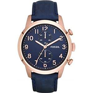 Fossil FS4933 Mens Townsman Chronograph Navy Watch