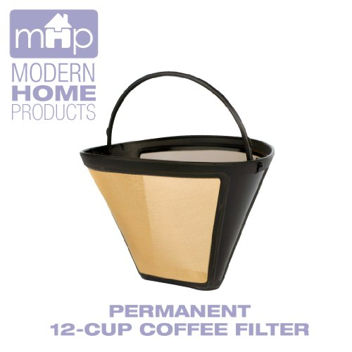 One Cup Coffee Maker With Permanent Filter : Permanent 12-Cup Cone Shape Gold Tone Coffee Filter Fits All Coffee Makers Using #4 Cone Filters ...