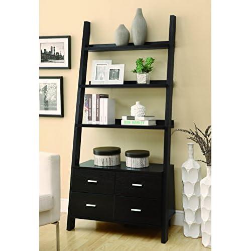 Coaster 800319 Home Furnishings Ladder Bookcase, Cappuccino