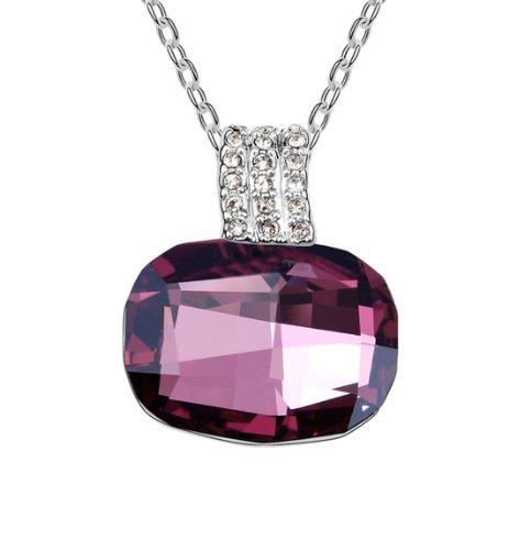 Boxingcat Fine Jewelry Swarovski Style Clear Austrian Crystal Pendant Necklaces Bgca6279 front-505253