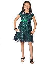 Peppermint Girls' A-Line Dress (L-AC-DRS-2152-3793-Green-36_Green_11 - 12 Years)