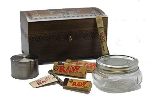 Enchanted Large Locking Chest Bundle - Stash Box, Storage Box, Locking Box, 8 Pc. Bundle (Smokers Box Marijuana compare prices)