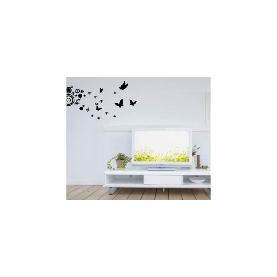 Large  easy Instant Decoration wall sticker wall mural Deco Flying Butterfly