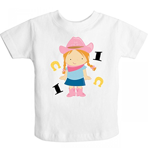 Inktastic Little Girls'' 1St Birthday Cowgirl Toddler T-Shirt 3T White front-11692
