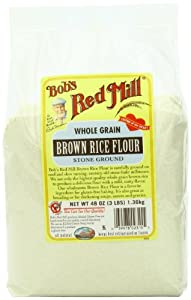 Bob's Red Mill Rice Flour Brown, 48-Ounce (Pack of 4)