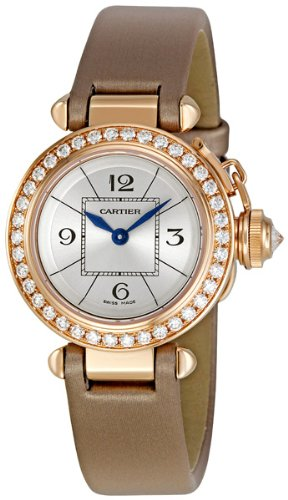 Cartier Miss Pasha 18kt Rose Gold Diamond Watch WJ124026