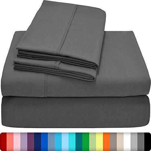 Ivy Union Premium Ultra-Soft Microfiber Sheet Set Twin Extra Long, Twin XL (Grey) (Extra Long Twin Bedding compare prices)