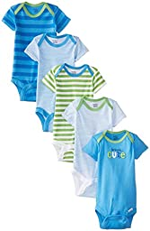 Gerber Baby-Boys Newborn 5 Pack Variety Onesie, Seriously Cute, 0-3 Months