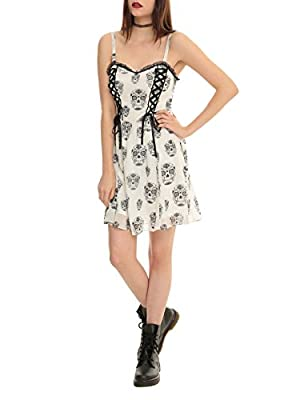 Royal Bones By Tripp Sugar Skull Lace-Up Dress from Hot Topic