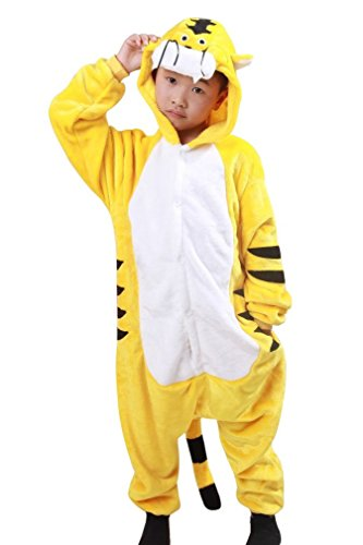 FashionFits Kid's Unisex Tiger Animal Onesies Pajamas Jumpsuit Cosplay Costumes