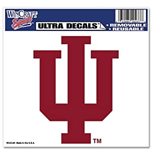 Buy Indiana Hoosiers Official NCAA 4.5x6 Car Window Cling Decal by WinCraft