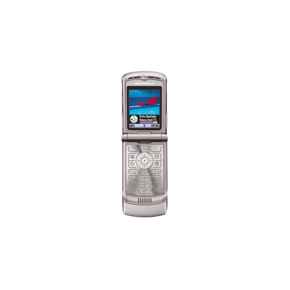 Motorola RAZR V3 Unlocked Phone with Camera, and Video Player  International Version with Warranty (Silver)