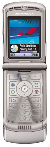 Motorola RAZR V3 Unlocked Cell Phone with Video Player--International Version with Warranty (Silver)