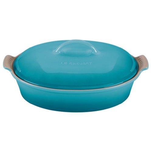 Le Creuset Heritage Caribbean Stoneware Covered Oval Casserole Dish, 4 Quart