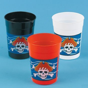 Dozen Plastic Pirate Cups
