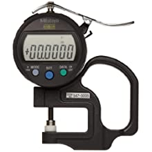 Mitutoyo Digimatic IDC/IDS Thickness Gage, Flat Anvil, SPC Output, Inch and Metric