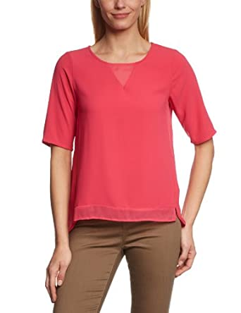 VERO MODA Damen Bluse 10089551 Balilu 2/4 Top, Gr. 34 (XS), Pink (RASPBERRY)