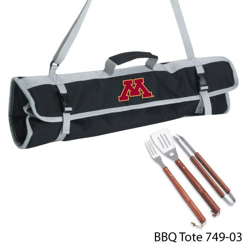 Ncaa Minnesota Golden Gophers 3-Piece BBQ Tool Set With Tote