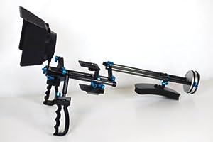 DSLR Rig and Shoulder Support with Tripod Mount Carbon Fiber Rods