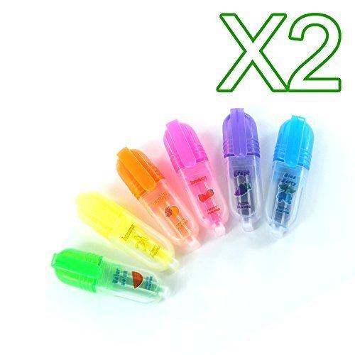 Colorate Profumato Evidenziatore Penne - Arancione, Confezione da 2