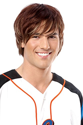 Costume Culture Men's Heartthrob Wig, Brown, One Size