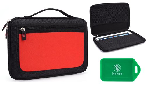 Le Pan - II Tablet Hard shell tablet case with handle in red from Electronic-Readers.com