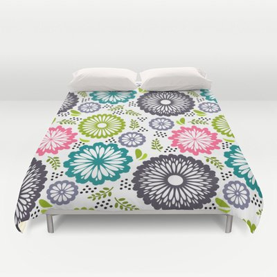 Society6 - Spring Flowers. Ethnic Style Duvet Cover By Silvianna