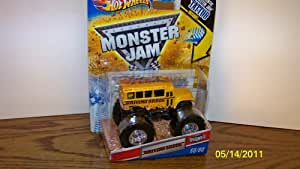 2011 Hot Wheels Monster Jam Originals #60/80 Driving Skool BUS 1:64 Scale Collectible Truck with Monster Jam Tattoo