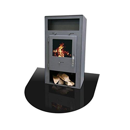 Hitzebestndig-einbrennlackierte-Bodenplatte-aus-Stahlblech-halbrund-Fr-Kamin-und-Ofen-in-Schwarz