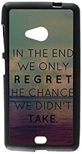 iCandy™ UV Printed Matte Finish Soft Back cover For Microsoft Lumia 535 - REGRET