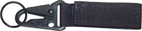 Fire Force Tactical Key Chain Molle Key Holder with Hk Style Hook Made in USA (Black)