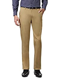 Peter England Khaki Trousers - B01CGMICPO