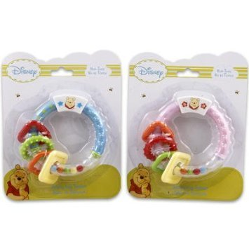 Winnie the Pooh Activity Ring Teether for Girls - Pink
