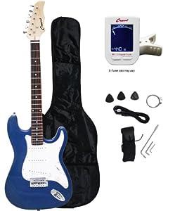 "Crescent EG-BUM 39"" Electric Guitar Starter Package - Blue Metallic Color (Includes Bonus CrescentTM Digital E-Tuner) from Crescent"
