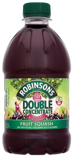 Robinsons Double Concentrate Apple and Blackcurrant No Added Sugar Fruit Drink Bottle 1.25 L (Pack of 6)