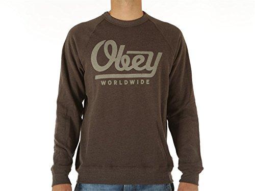 Obey, Uomo, Le Worldwide Crew SMU, Poliestere, Felpe, Marrone, M EU