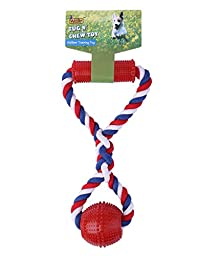 Knot Strong Rubber Dog Chew Toy Cotton Rope Dog Tug of War Durable Long-Lasting Chew Rope Toys for Small Pet Medium Dog Large Aggressive Chewer