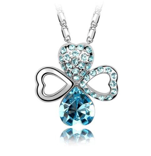 Boxingcat Fine Jewelry Swarovski Style Clear Austrian Crystal Pendant Necklaces Bgca4984 front-1050436