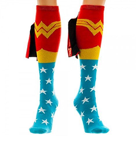 Suit Up Wonder Woman Knee High Socks with a Shiny Cape