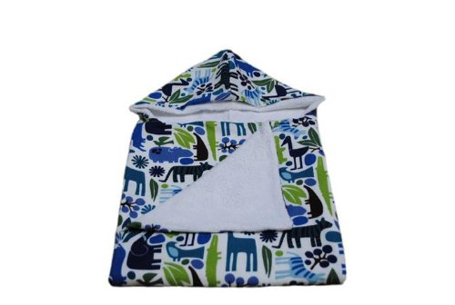 Tourance Baby Hooded Towel Blue Zoo