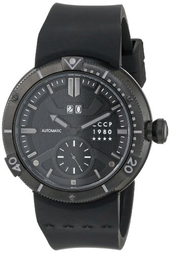 Cccp Men'S Cp-7006-04 Kashalot Analog Display Automatic Self Wind Black Watch