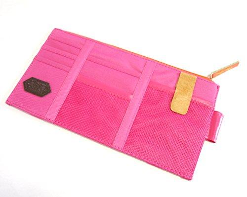(プジョールベッテ) Puyol bette 車 サンバイザー 小物 入れ 多機能 ポケット ケース 収納 便利 (赤)