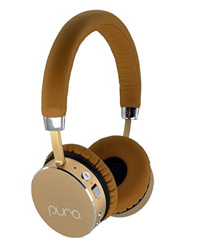 Puro Sound Labs, The Premium Kids Headphone, Kids Volume Limiting Bluetooth Wireless Headphones (Tan,Gold)