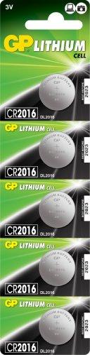 PILES BOUTONS LITHIUM 3 V AU CR2016 LOT DE 5