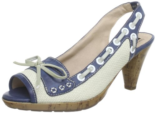 Queens HCL1010A offwhite Sandals Women White Weià (offwhite navy 00) Size: 8 (42 EU)
