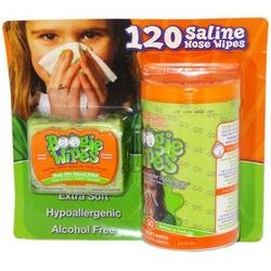 Fresh Scent Boogie Wipes Saline Nose Wipes 120 Ct. front-999879